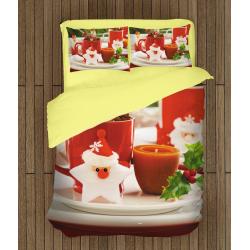 3D коледно спално бельо със завивка Коледни мотиви - Christmas motives