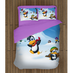 Детски коледни чаршафи Пингвини - Pinguins