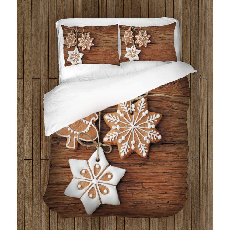 3D коледни чаршафи със завивка Коледни сладки - Christmas Cookies