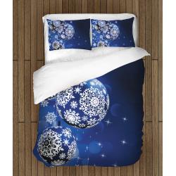 Коледен спален комплект с олекотена завивка - Коледни топки - Christmas Balls