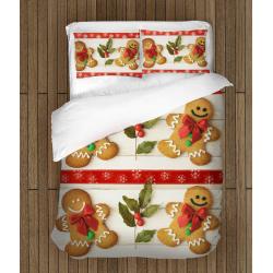 Спално бельо с олекотена завивка с коледни мотиви Коледни усмивки - Christmas Smiles