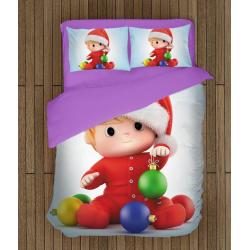 Детски коледни чаршафи със завивка Коледно бебе - Christmas Baby
