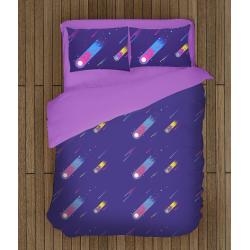Спално бельо със завивка 3D Арт комета - Art Comet