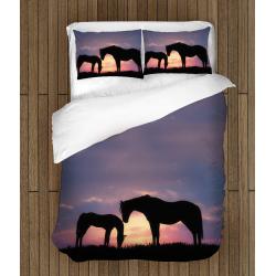 Спално бельо 3D със завивка Коне - Many Horses