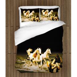 Романтично 3D спално бельо Коне - Horses Romance