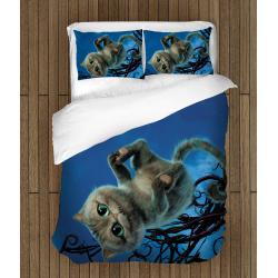 Комплект спално бельо със завивка Чешърски котарак - Cheshir Cat Alice