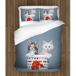 Сладко детско спално бельо Котки в кошница - Cats in Basket