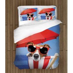 Свежо спално бельо Куче на плаж - Beach Dog