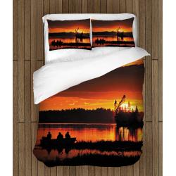 Олекотено спално бельо със завивка Късен риболов - Fishing