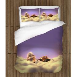 Комплект спално бельо със завивка чаршафи Ледена епоха - Ice Age Squirrel