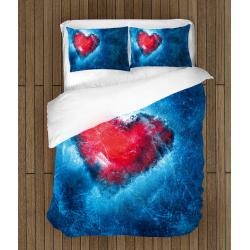 Спално бельо със завивка 3D Ледено сърце - Ice Heart