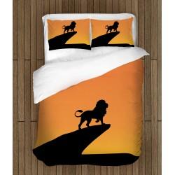 Ефектно спално бельо Цар Лъв Силует - Lion King Sillhouette