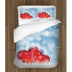 Коледни чаршафи със завивка - Любов през зимата - Winter Love