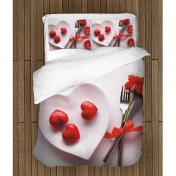 Спално бельо за деня на влюбените Любов за закуска - Love for breakfast