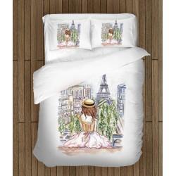 Арт спален комплект Лято в Париж - Summer in Paris