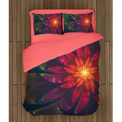 Спално бельо със завивка 3D Магическо цвете - Magical Flower