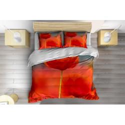 Романтично Спално бельо с олекотена завивка Макове - Poppy