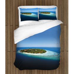 Романтични чаршафи със завивка Малдивите - Maldives Vacancy