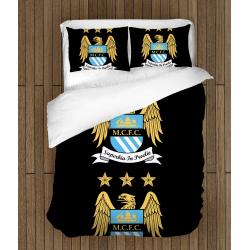 Футболно спално бельо със завивка 3D Манчестър Сити - Manchester City