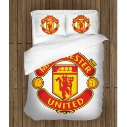 Футболно спално бельо Манчестър Юнайтед - Manchester United White