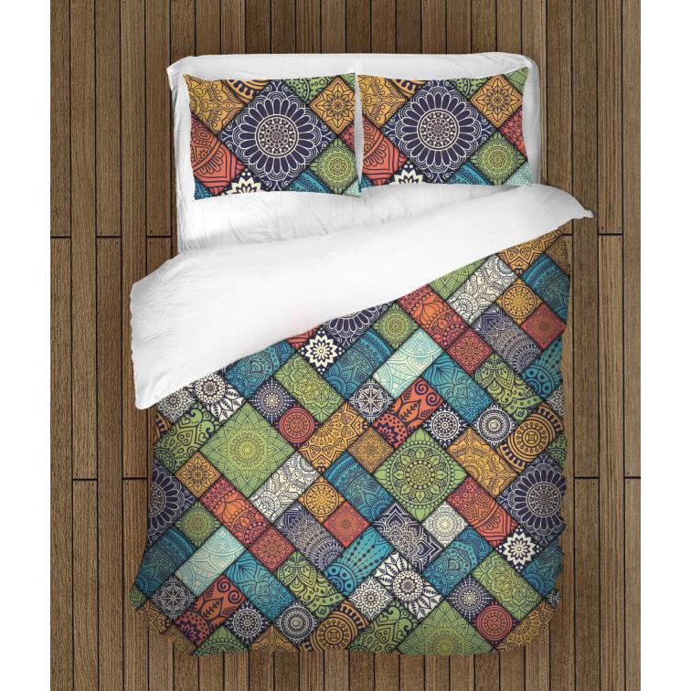Атрактивен комплект чаршафи Мандала - Mandala