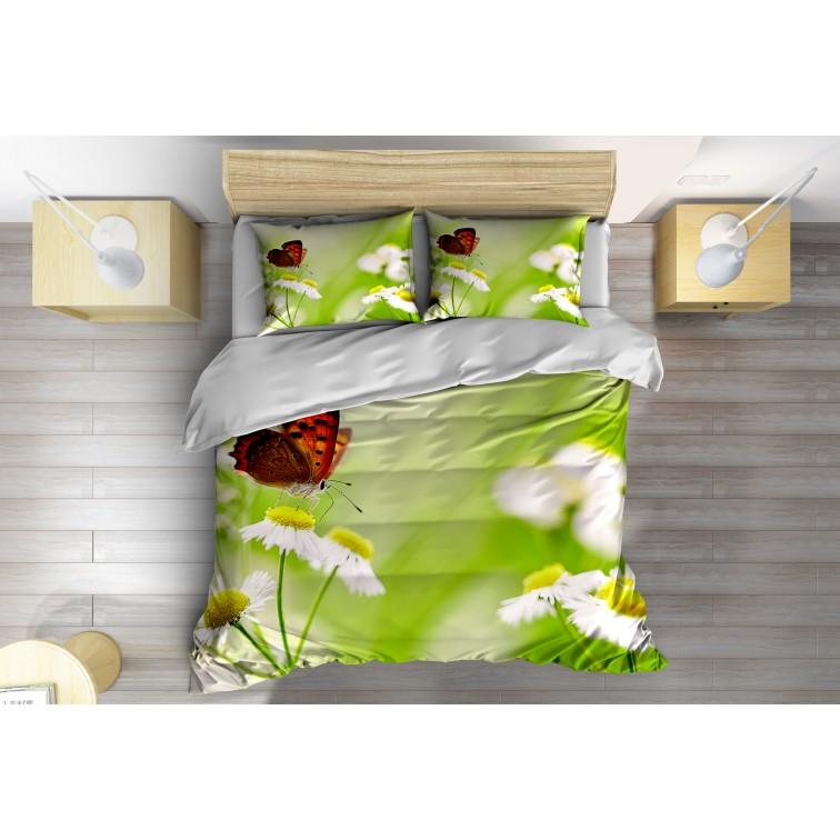 3D Спален комплект със завивка Маргаритки - Daisy