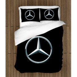 Спално бельо 3D с лого Мерцедес - Mercedes Logo