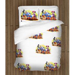 Комплект спално бельо със завивка Мики и Мини Маус - Mickey And Minnie
