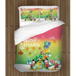 Детско спално бельо Мики Маус на Коледа - Mickey Mouse Christmas