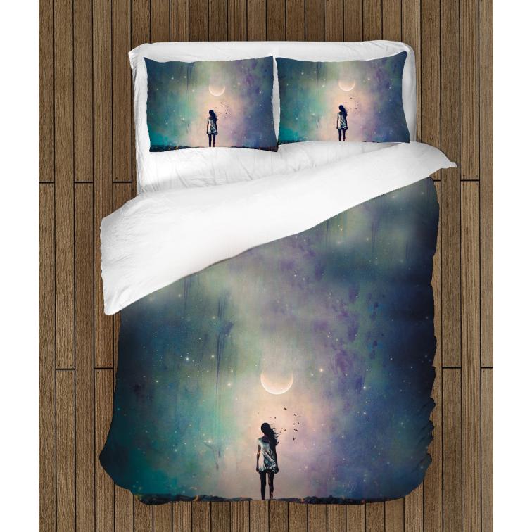 Спално бельо със завивка 3D Момиче в нощта - Girl In The Night