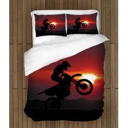 Спално бельо Мотор по залез - Motorcycle Sunset