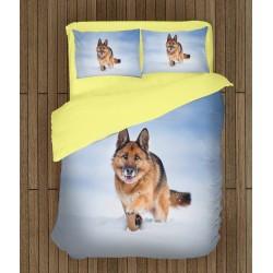 Спално бельо Немска овчарка в снега - Snow German Shepherd