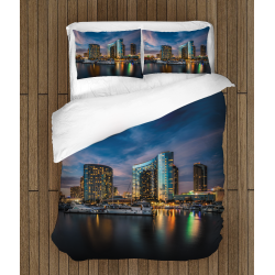 Спално 3д бельо със завивка Сан Диего - Night In San Diego