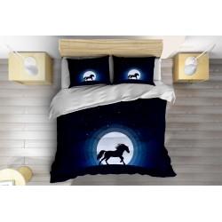 3D Спално бельо с олекотена завивка Нощен бяг - Night Running