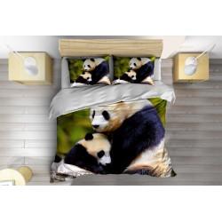 Спално бельо с олекотена завивка с животински мотиви Панди - Pandas