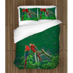 Спално бельо със завивка 3D Папагали -  - Parrots