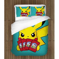 Спално бельо Покемон - Picachu Cards