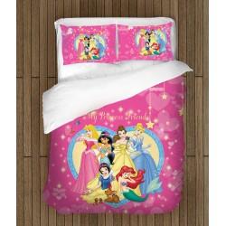 Спално бельо със завивка Принцеси - Beautiful Princesses