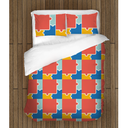 Комплект спално бельо със завивка Пъзел - Puzzle