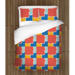 Цветно спално бельо Пъзел - Puzzle