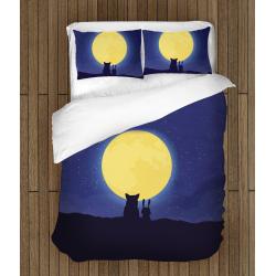 Спално бельо със завивка 3D Пълнолуние - Fullmoon