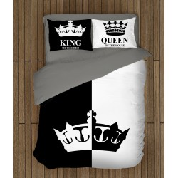 Модерно спално бельо за легло Крал и Кралица - Queen and King
