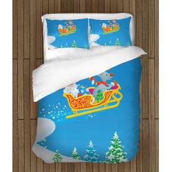 Коледно спално бельо със завивка Раздаване на подаръци - Giving Presents at Christmas