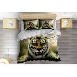 Комплект Спално бельо с олекотена завивка Разярен тигър - Furious Tiger