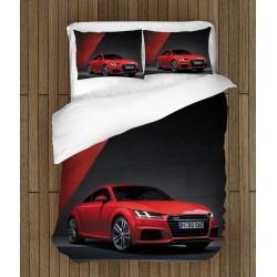 Фенско спално бельо Червено ауди - Red Audi