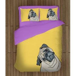 Ефектен спален комплект Рисувано куче - Painted Dog