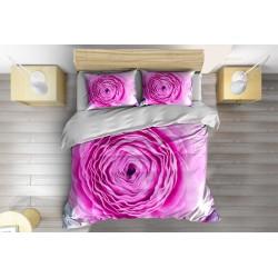 Комплект Чаршафи със завивка Розова роза - Pink Rose