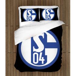Футболно спално бельо със завивка 3D Шалке - Shalke