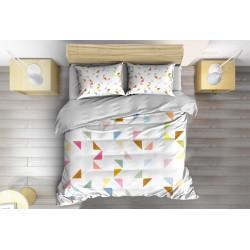 Арт Спален комплект със завивка Шарки удома - Pattern at Home