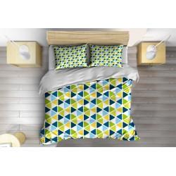 Арт Спално бельо с олекотена завивка Шарки в зелено - Green Pattern